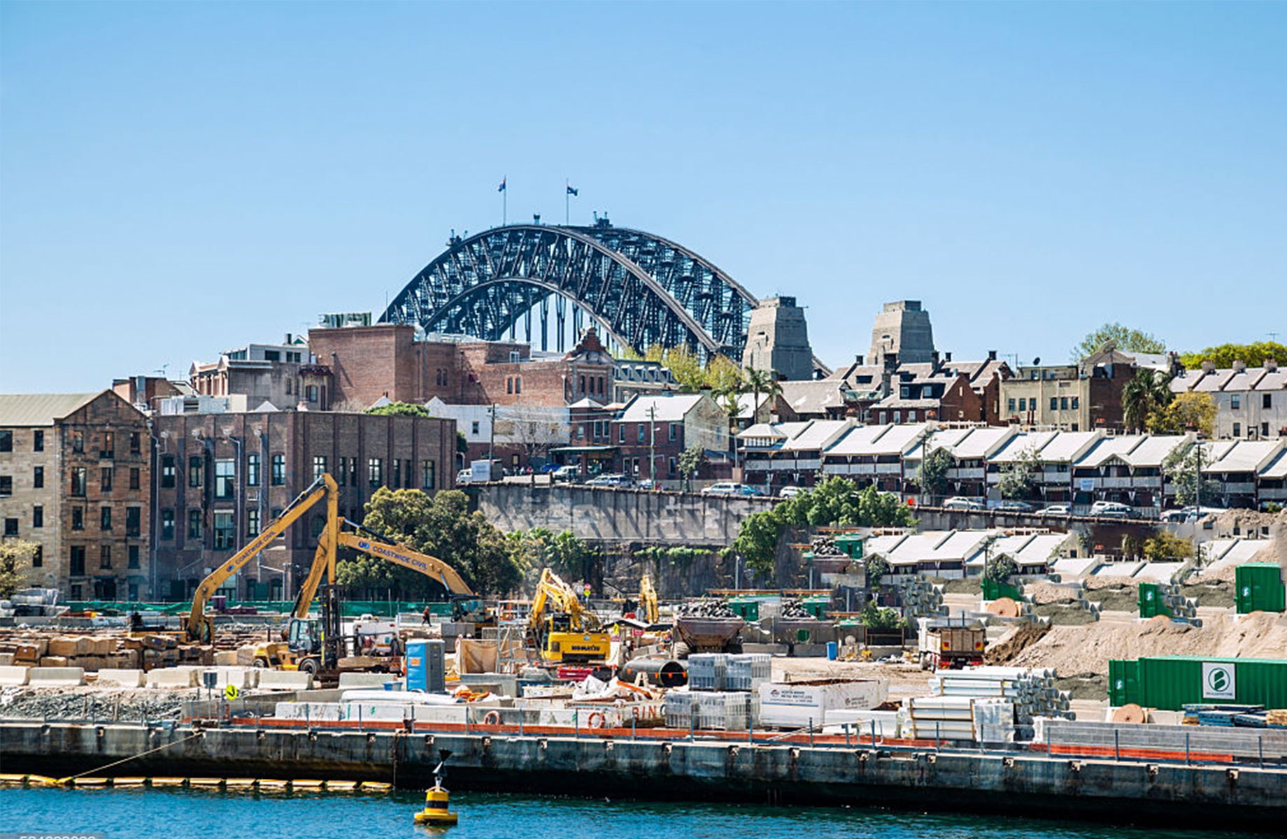 Crown's building site at Central Barangaroo in Sydney.