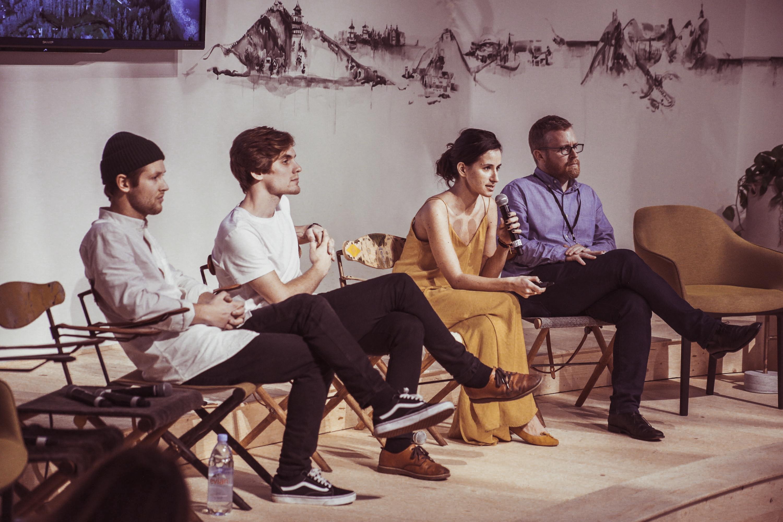 Stanescu presenting at Design Miami