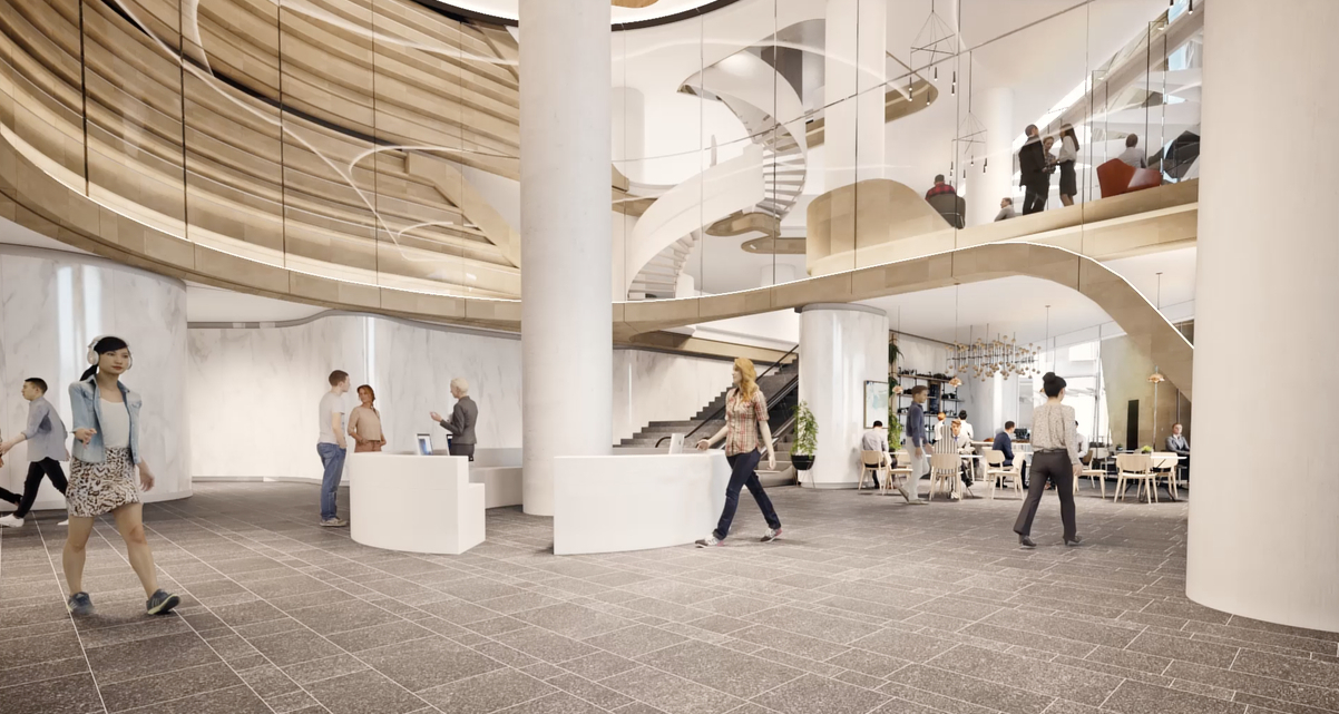 The new commercial and retail annex would serve as an inviting new lobby for tenants and visitors of 388 George Street.