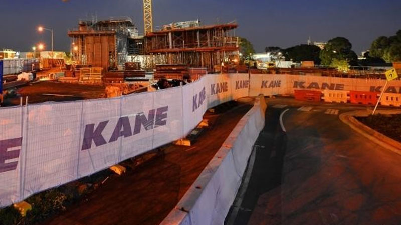 ▲ An employee of a subcontractor at the Kane Constructions project, at the Melbourne University's Parkville campus site, has been diagnosed with coronavirus.