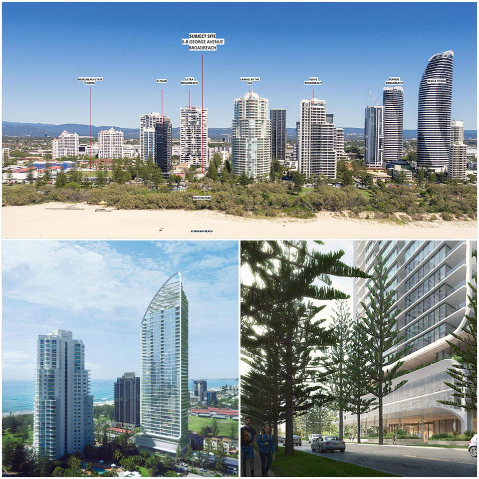▲ If approved, the tower will be built next to Pacific Fair Shopping Centre on the opposite side of the Gold Coast Highway.