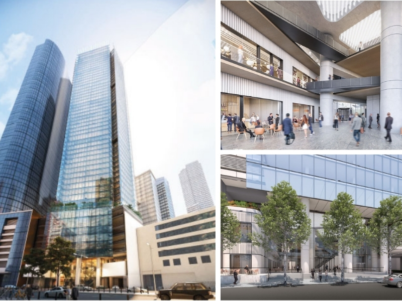 Three renders by Grimshaw architects for the site next to Hanover House which is now part of the Southbank by Beulah site.
