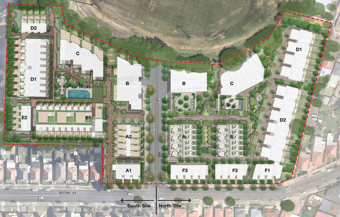 ▲ Coronation has put forward plans for the south site, the first stage of the master plan residential development.