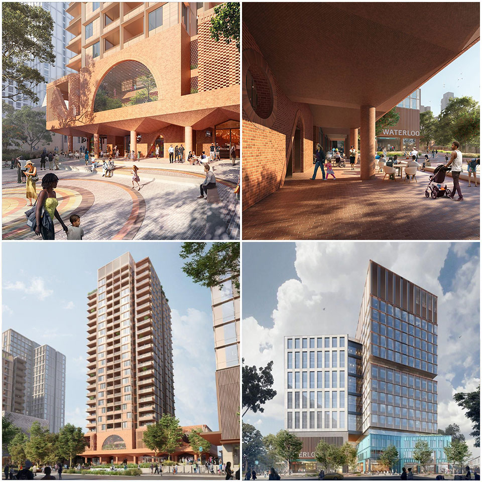 ▲ The architects for the project include Hassell (in conjunction with Aileen Page Architects), Woods Bagot Studio, Bates Smart Partners and Aspect Landscape Architects.