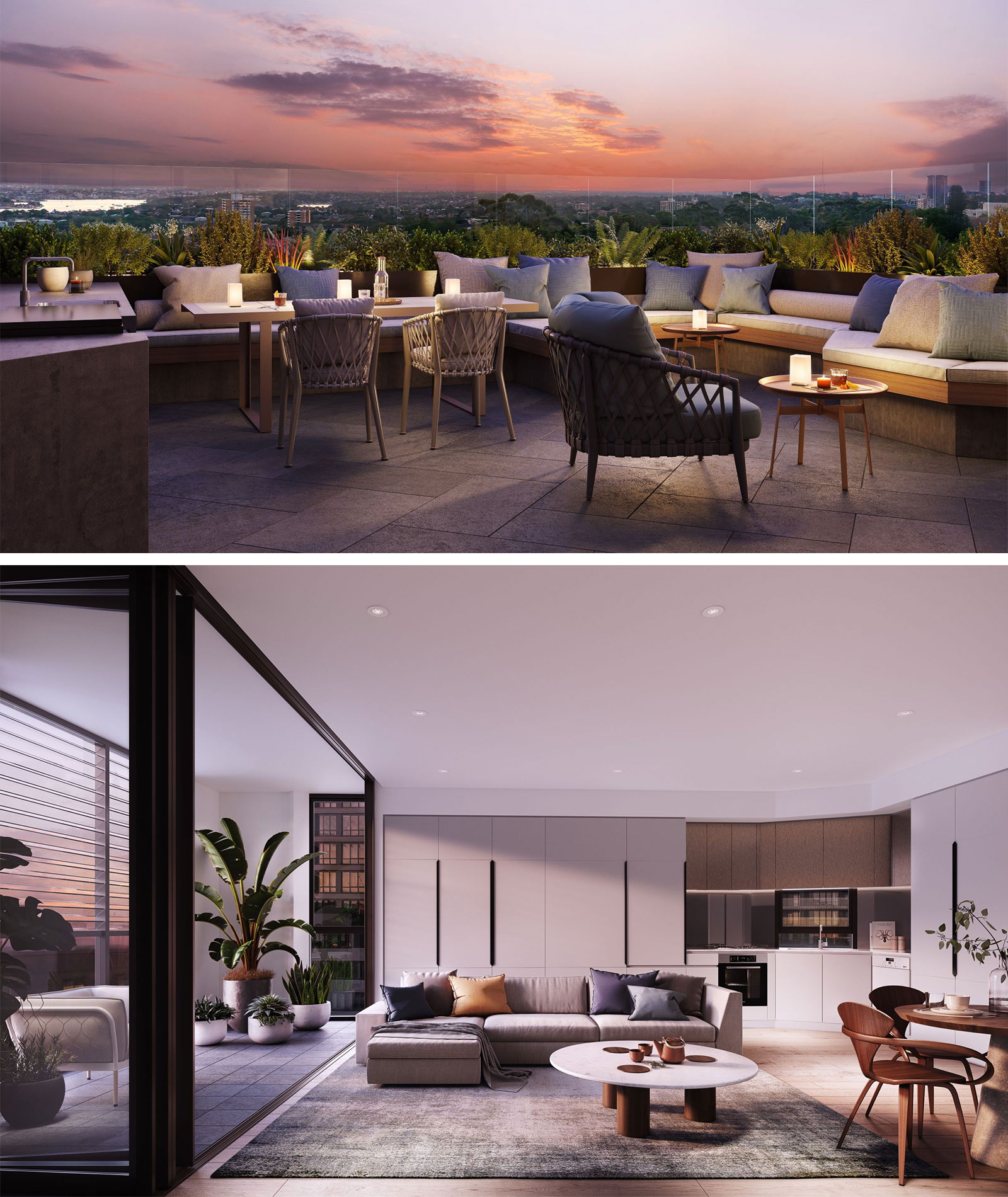 The project will feature harbour views, two storey penthouses and communal rooftop.