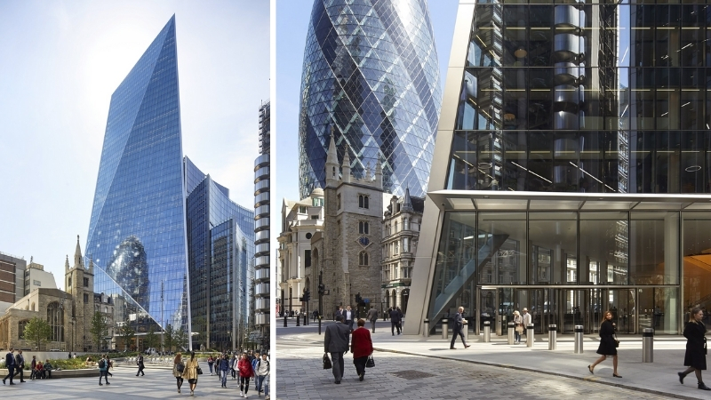 ▲ The Scalpel was completed in 2018 in the heart of London city's iconic cluster of buildings. Image: KPF