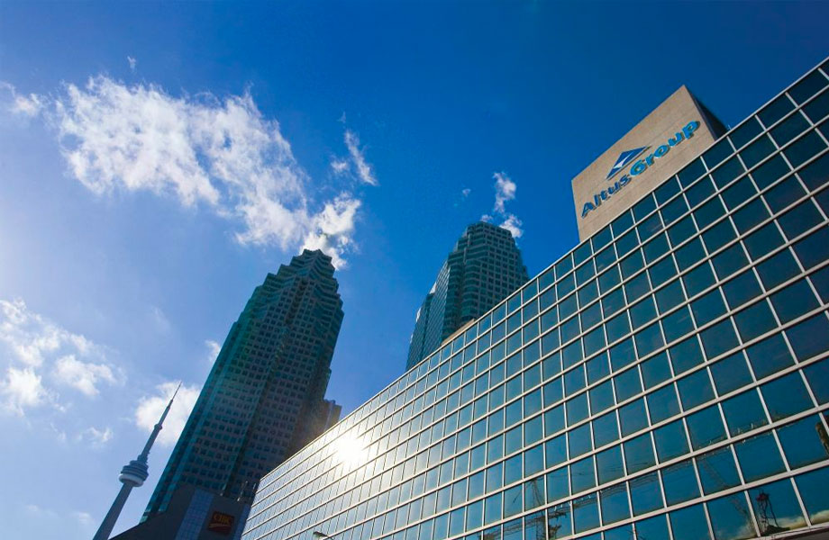 Canadian firm Altus provide software, data solutions and advisory services to global commercial real estate firms.