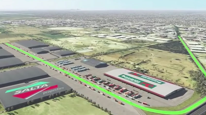 ▲ Work will start early next year on what will become Melbourne's biggest Intermodal terminal following an agreement developer Salta Properties and the Victorian government have signed to jointly fund the infrastructure project in Dandenong South.