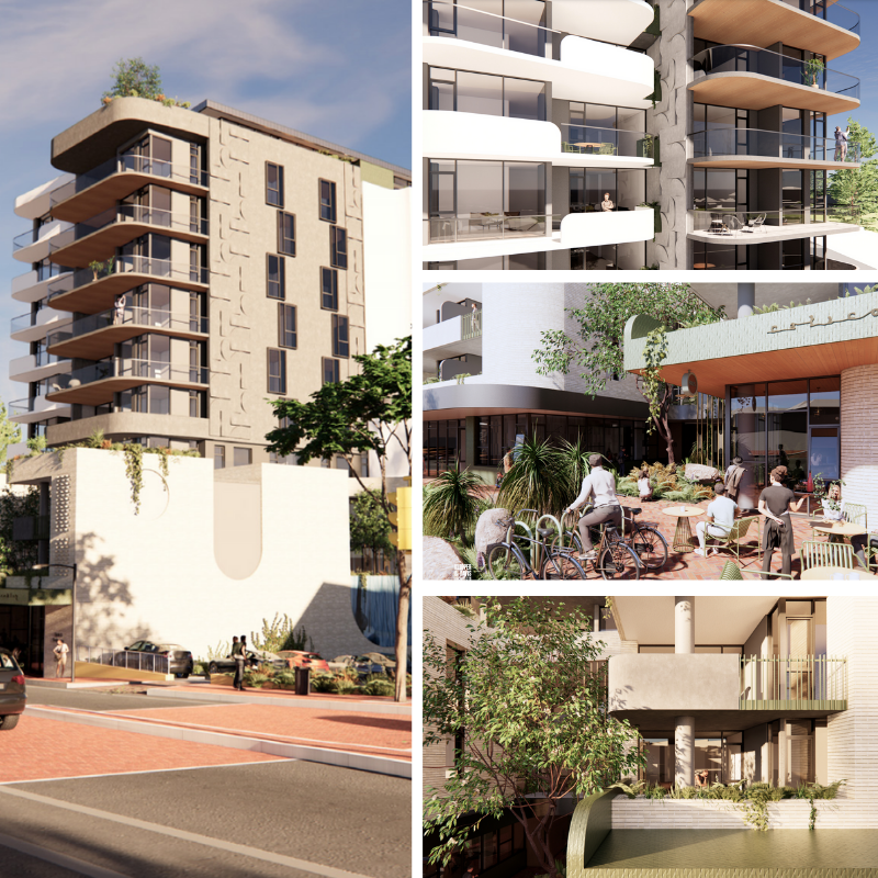 """▲ The proposed development received """"strong endorsement"""" from the Town's Design Review Panel. Images: Klopper and Davis Architecture"""
