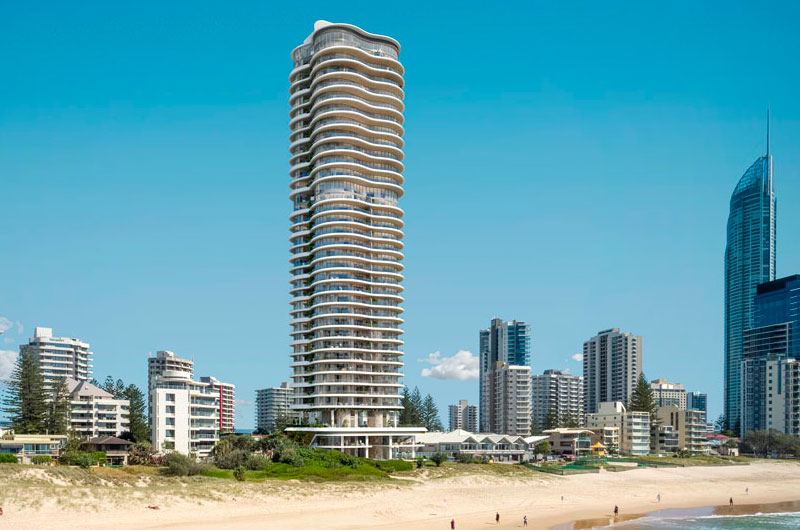'Coast' located at 43 Garfield Terrace, Surfers Paradise development project