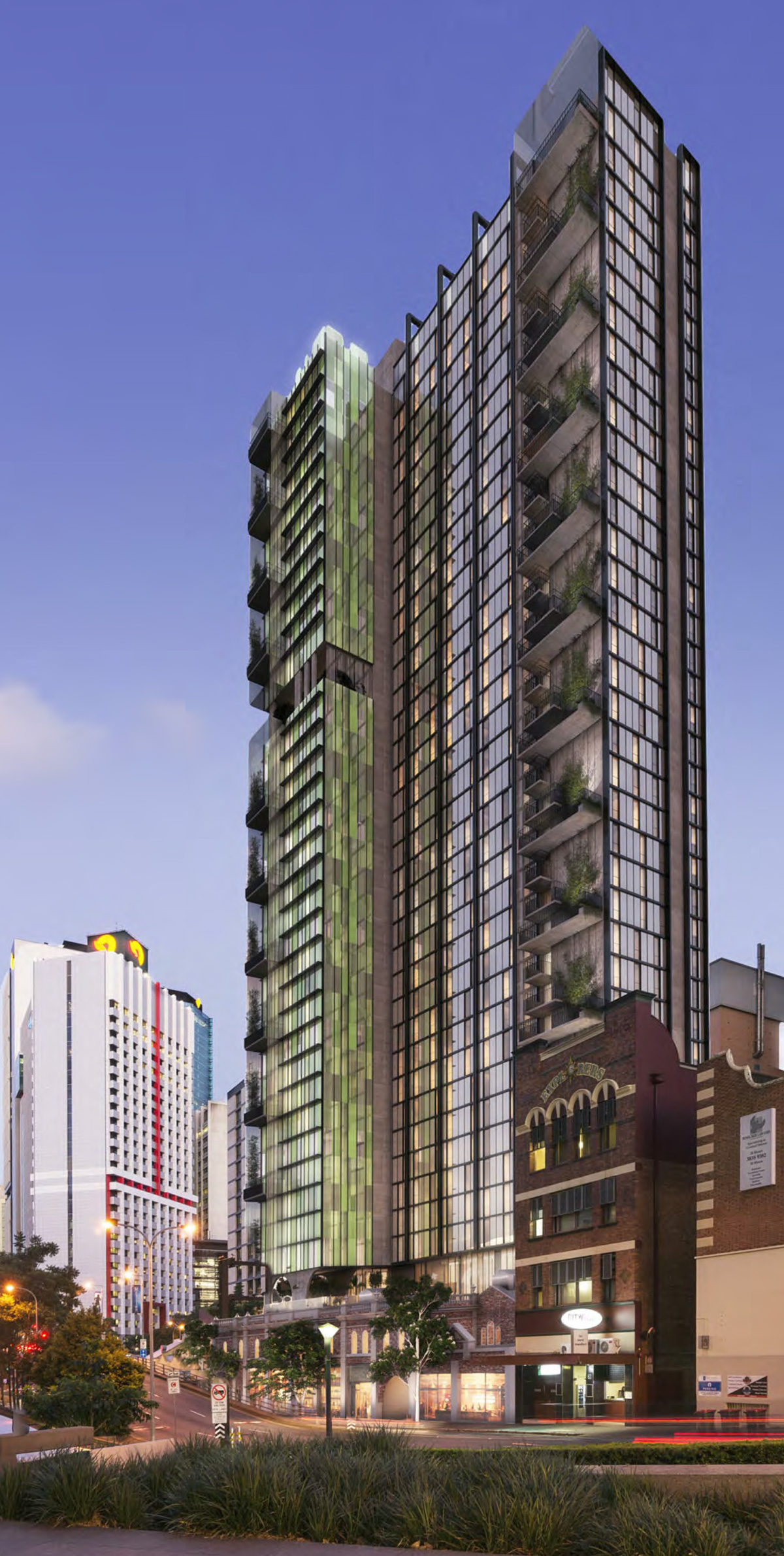 Artist's impression of proposed student accommodation tower by Wee Hur in 2017