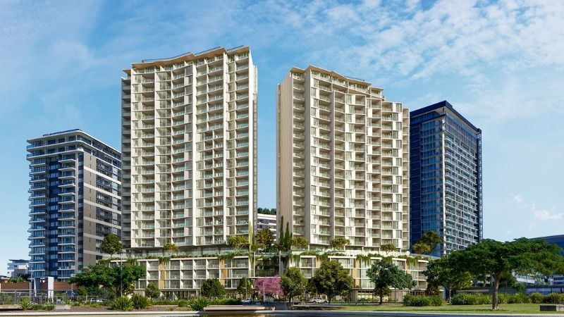 Mirvac's dual-tower LIV Anura build-to-rent project in inner-city Brisbane Newstead will deliver almost 100 affordable rental apartments for key workers.