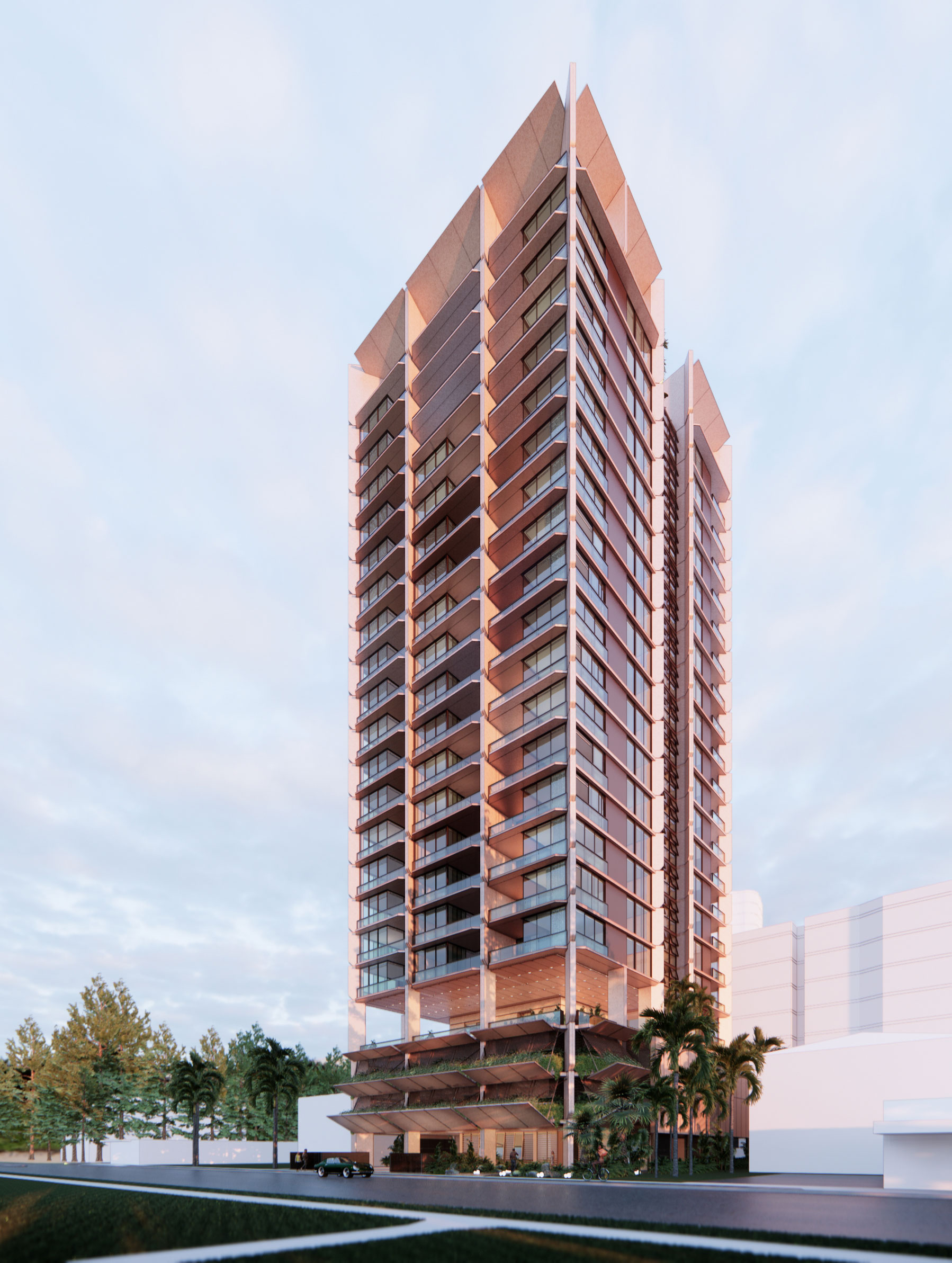 Turrisi Properties modernist coastal apartment tower to set design benchmark in Broadbeach.