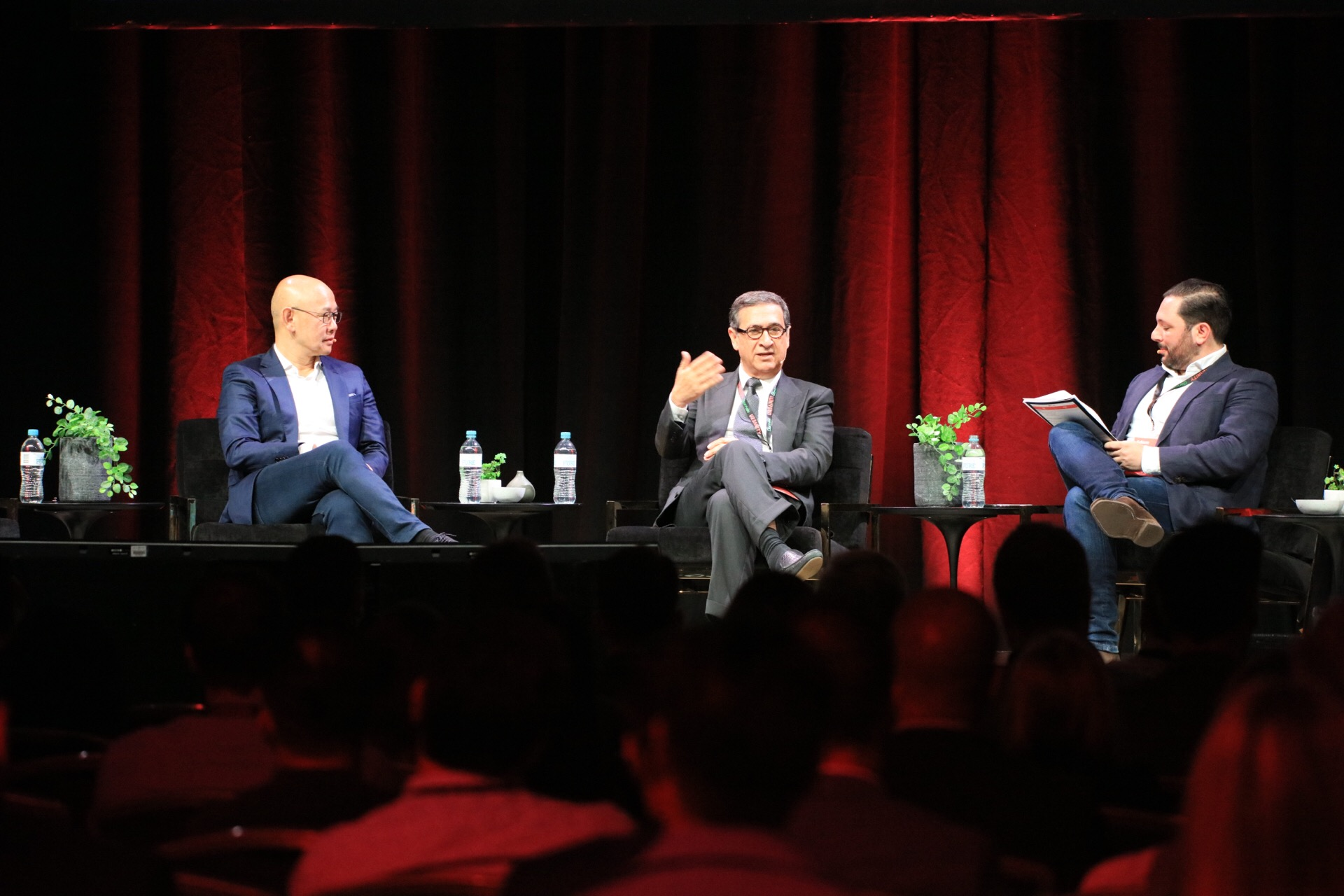 Sunland founder Soheil Abedian in conversation with Crown Group founder Iwan Sunito and The Urban Developer's Adam Di Marco at this year's Urbanity.