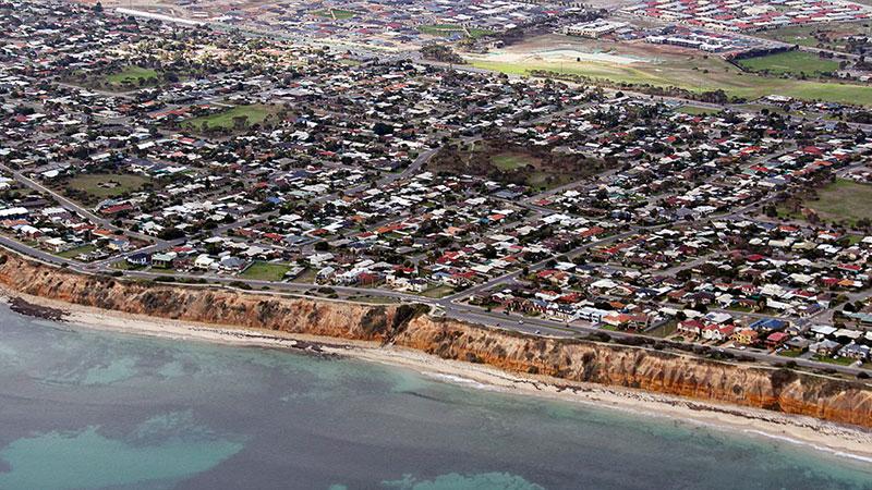 One of Adelaide's popular beaches, Aldinga beach.