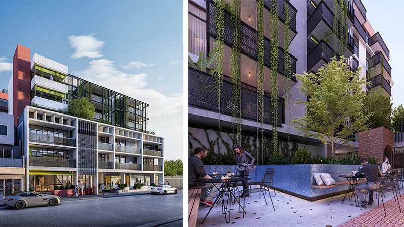 ▲ Plans for the Albion Street, Brunswick build-to-rent project. Image: Pellicano