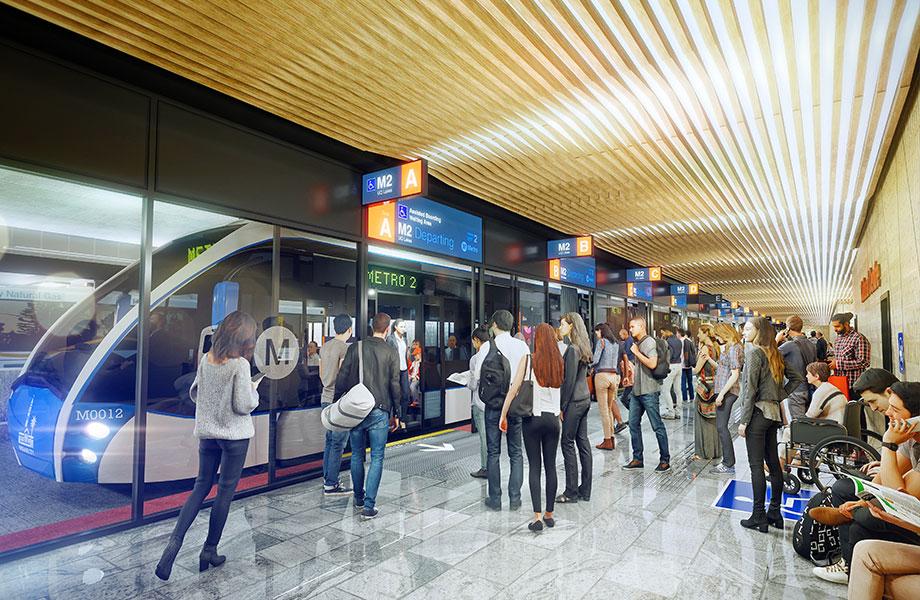 The Cultural Centre Station Platform