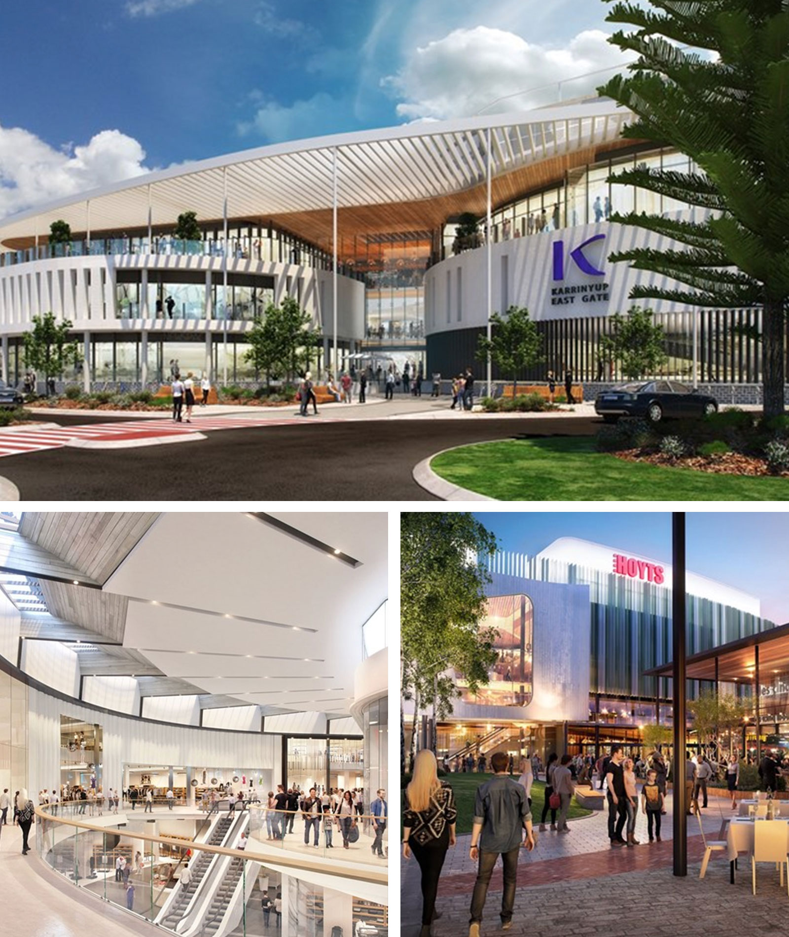 New additions to the Karrinyup Shopping Centre will include leisure, lifestyle and entertainment which will include a new state-of-the-art 10 screen Hoyts cinema.