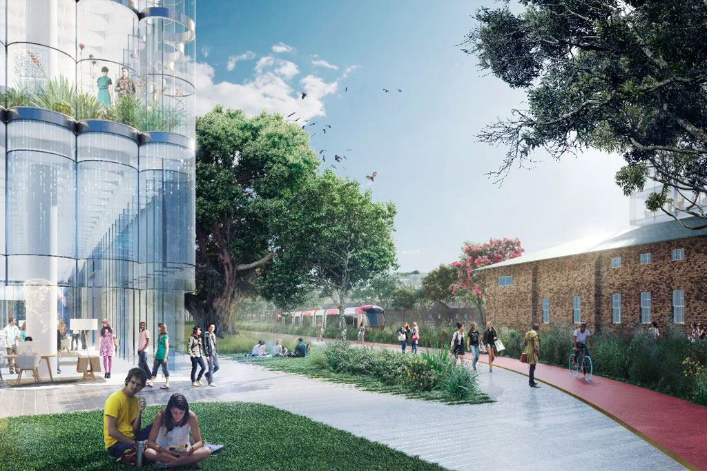 An artist's impression of the Parramatta/Westmead campus.