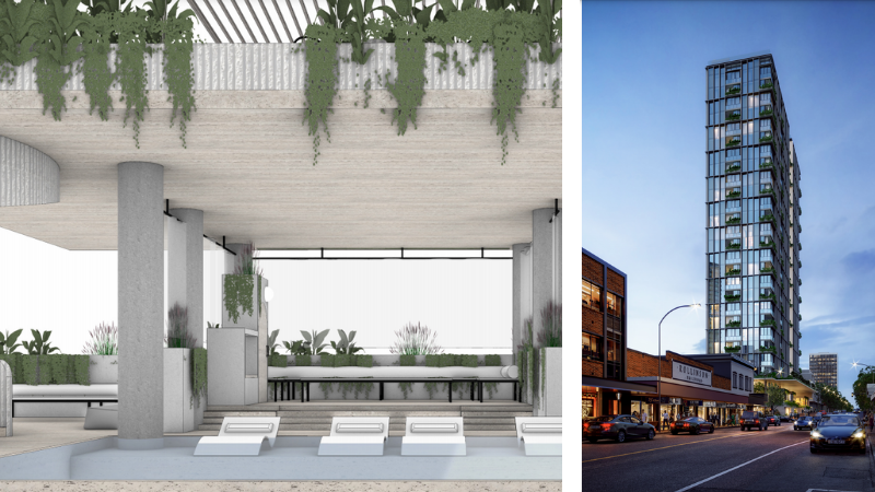 ▲ A lap pool, sky bar and private lounges will add lifestyle appeal to a 29-storey hotel proposed for 388 Brunswick Street, Fortitude Valley.