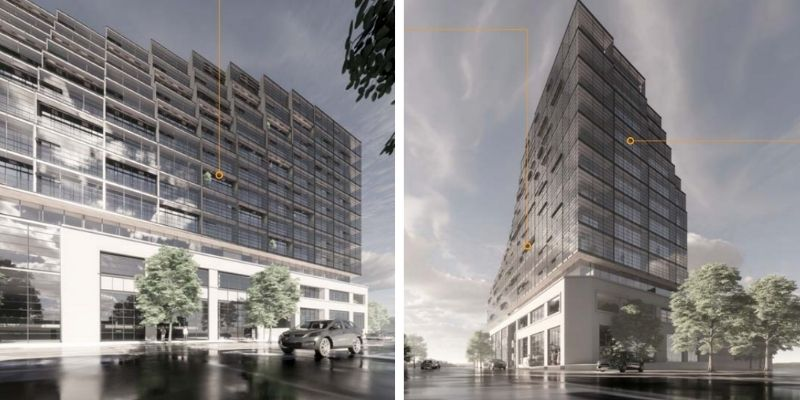 ▲Plans for the mixed-use project at 287-313 Macaulay Road, North Melbourne.