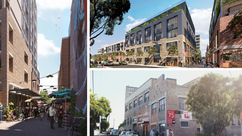 ▲ Plans for the Precinct 75 redevelopment fuse the old gritty industrial buildings with contemporary design. Images: Cox Architecture
