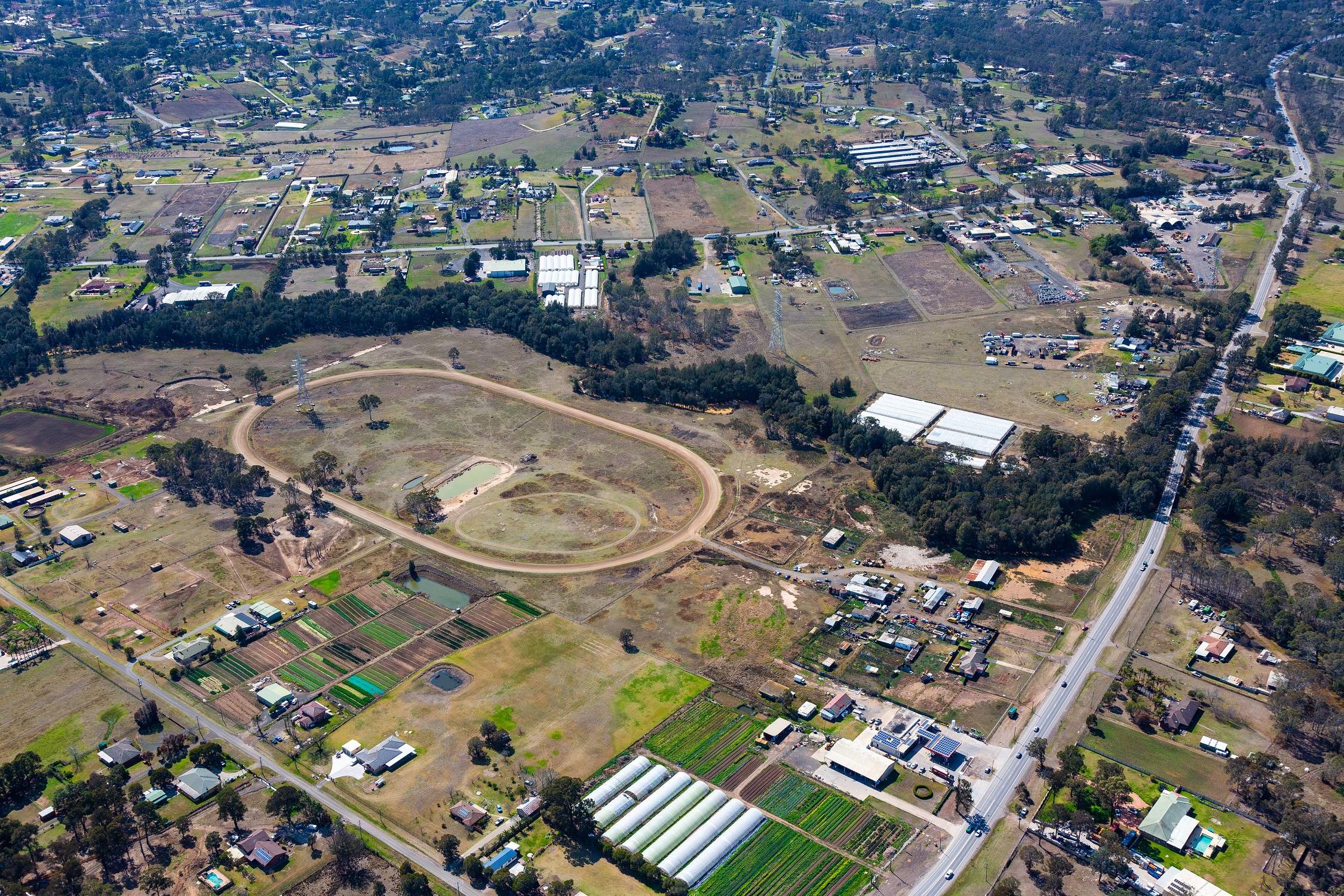 Pictured: The 18.6-hectare property in Kemps Creek is expected to fetch up to $20 million.