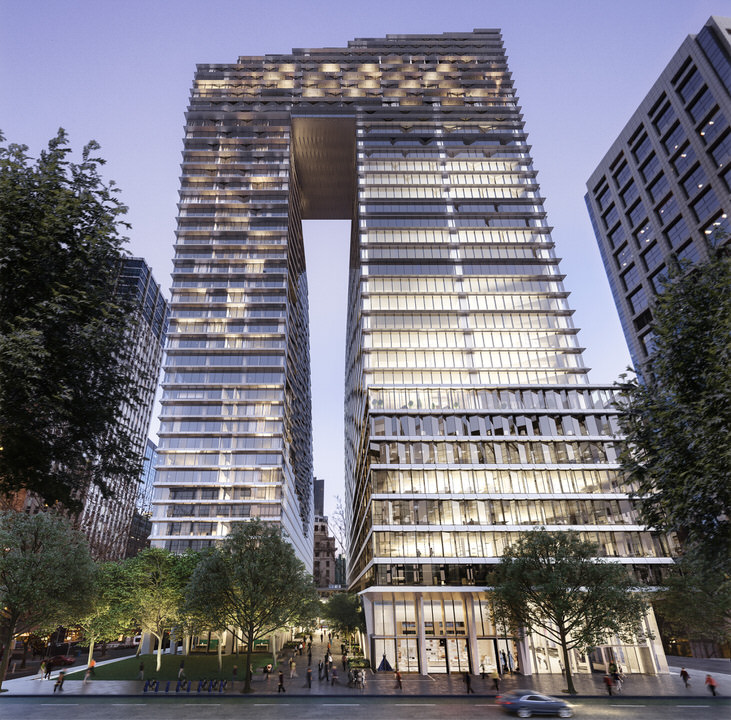 Cbus Property's Collins Arch project will be a striking addition to the western end of Collins Street in Melbourne's Hoddle Grid.