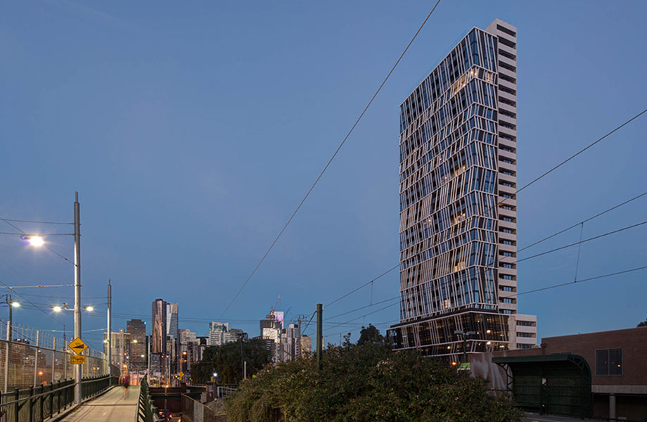 Gravity Tower, designed by Plus Architecture, was the first completed high rise residential project in Fishermans Bend.