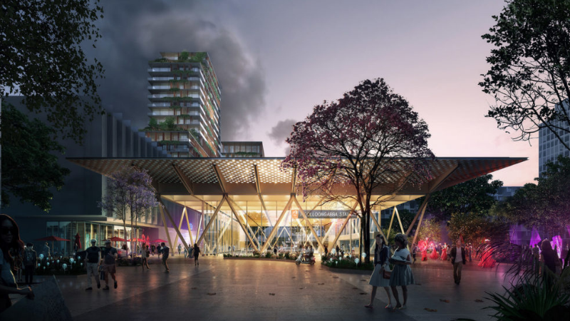 ▲ The $5.4bn Cross River Rail is due for completion in 2024 and is key to Brisbane's bid for the Olympic Games in 2032.