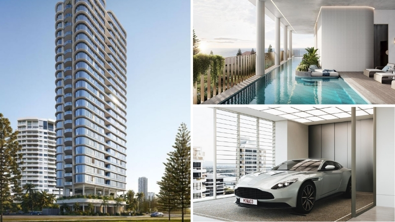 """▲Ignite Projects will have two car lifts within The Monaco on Main Beach building as well as """"sky garages"""" within the apartments."""
