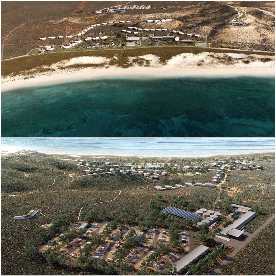 ▲ Plans for the Ningaloo Lighthouse Project. Image: Tattarang