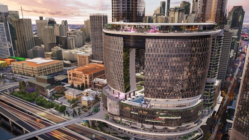 """▲Construction on Queen's Wharf Brisbane will continue """"with no interruption to timelines,."""""""