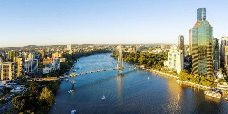 ▲ Kangaroo Point green bridge. Brisbane development