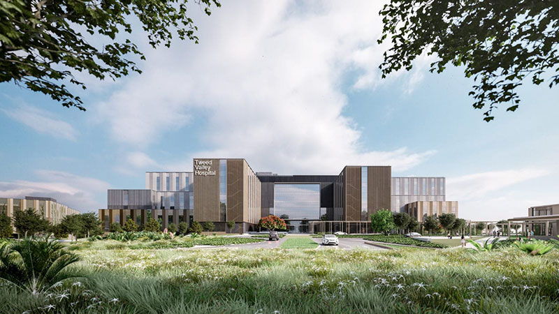 ▲ Plans for the Tweed Valley Hospital.