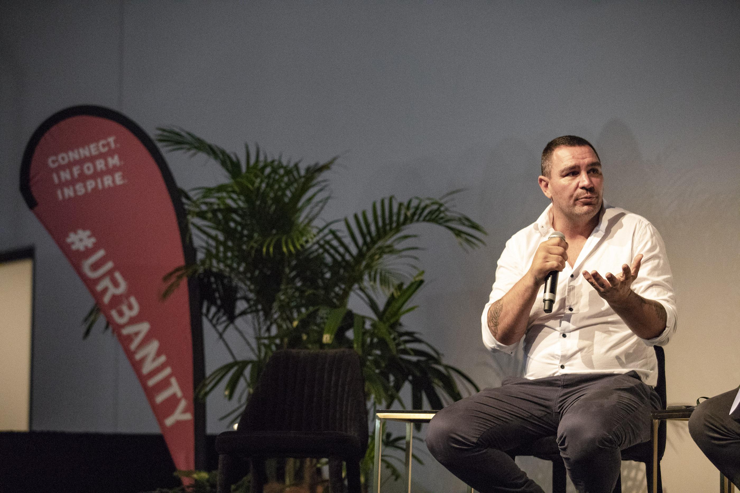 Donovan speaking at Urbanity 2018