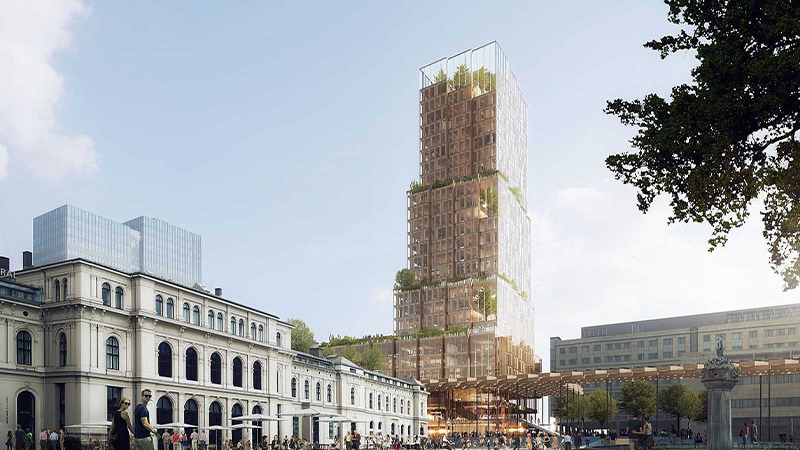 Nordic Light Timber Tower Oslo