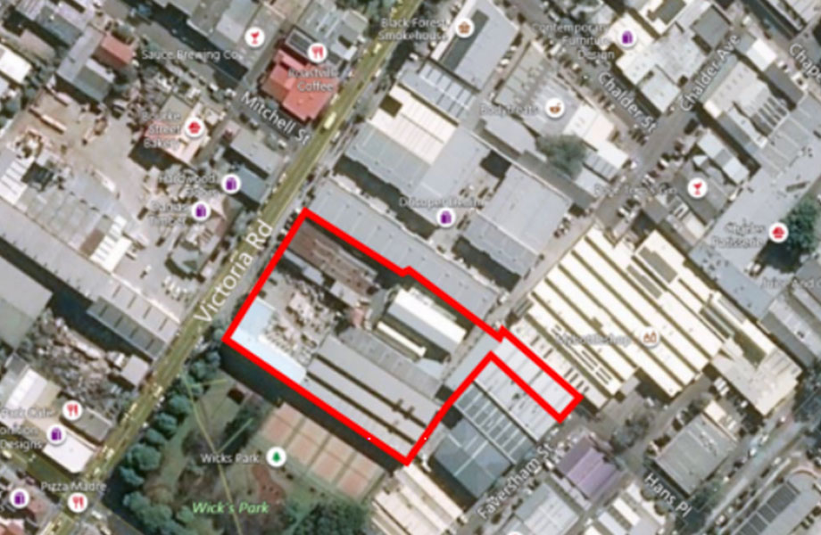 The 7,262sq m site is located at 182-198 Victoria Road and 28-30 Faversham Street in Marrickville.