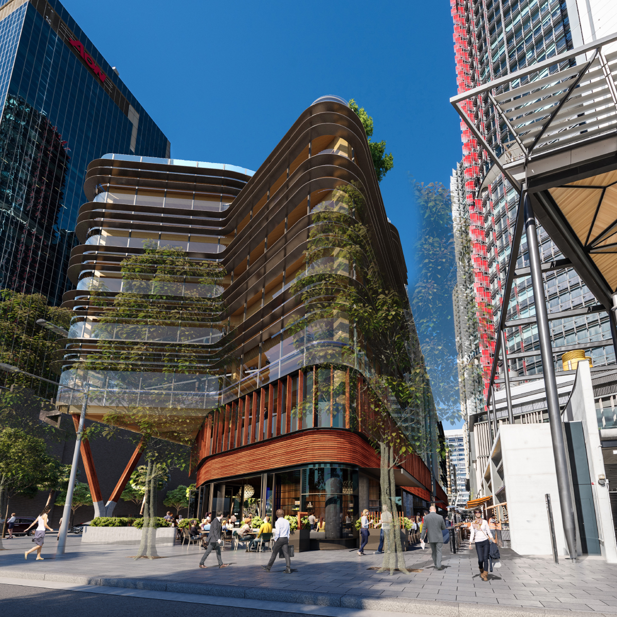 """Daramu House which means """"tree house"""" will be Lendlease's sixth engineered timber building in Australia."""
