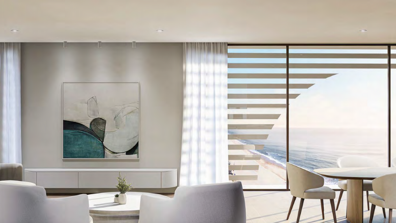 ▲ A minimalist glass facade will help to frame expansive views of the coastline. Image: Raunik Design Group