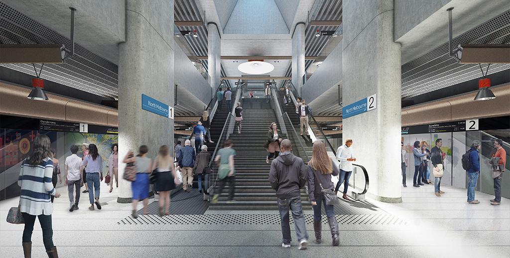 North Melbourne platform