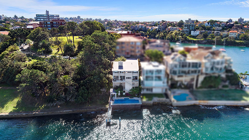 ▲ 1 Baden Road Kurraba Point on Sydney's North Shore hit the market this month with a price guide of $17 million to 18 million.
