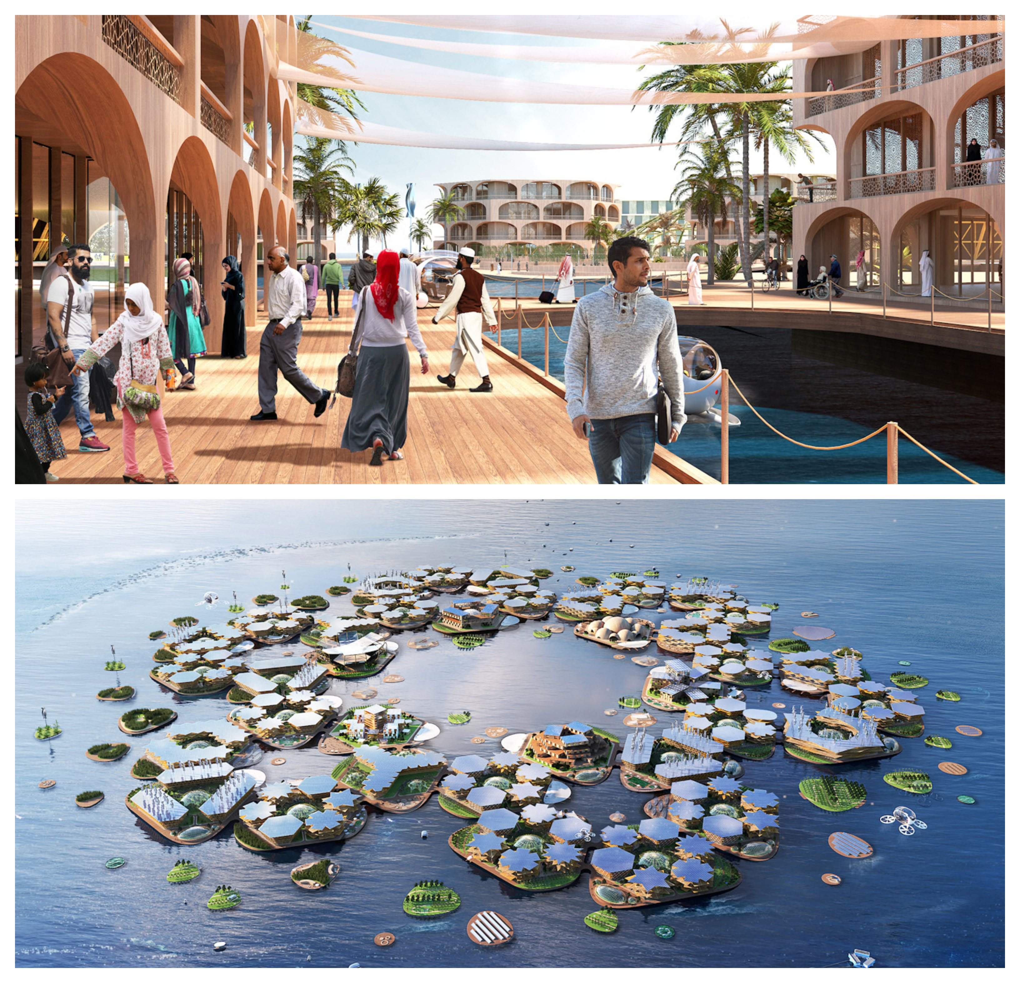 Hexagon shaped: Ingles said Oceanix City is designed as a human-made ecosystem channeling circular flows of energy, water, food, and waste.