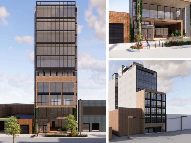 ▲ An impression of the 11-storey office tower planned for Cremorne. Image: Architects EAT