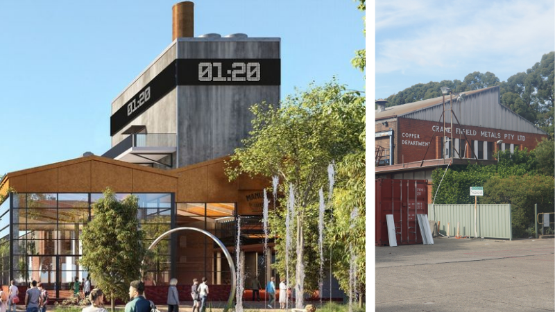 ▲ The Aon Ari redevelopment of the former Crane Copper Tube factory will fuse the old with the new.