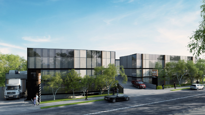 ▲ The architect-designed self storage and industrial warehouse facilities will take over the last piece of vacant land in Lane Cove. Images: Hannas