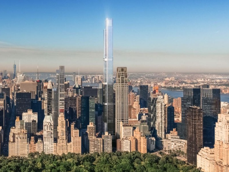 The tallest residential tower in the world, the Central Park Tower in New York City.