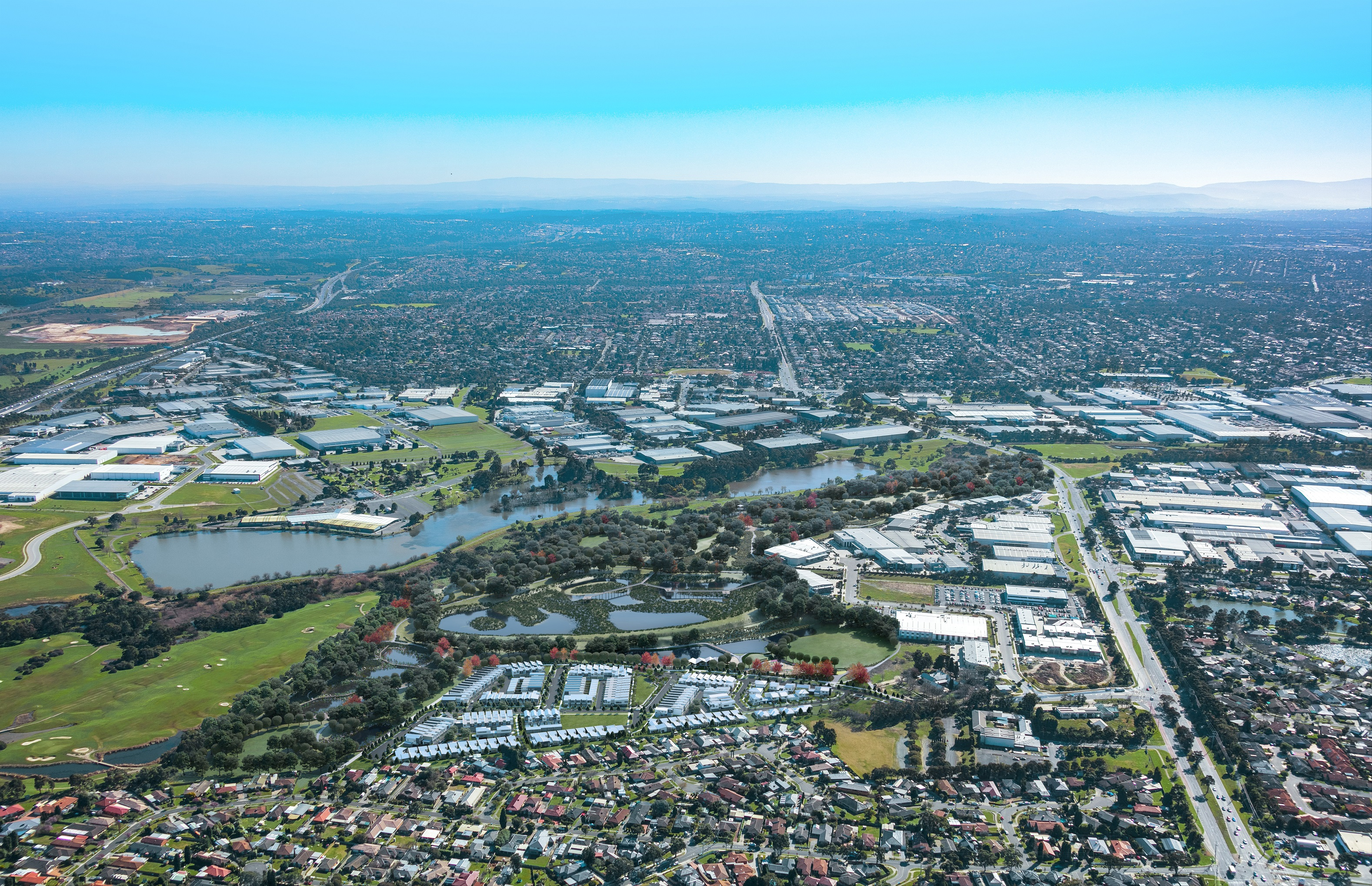 The development incorporates 45 hectares of parkland and heritage precinct with 190 homes.