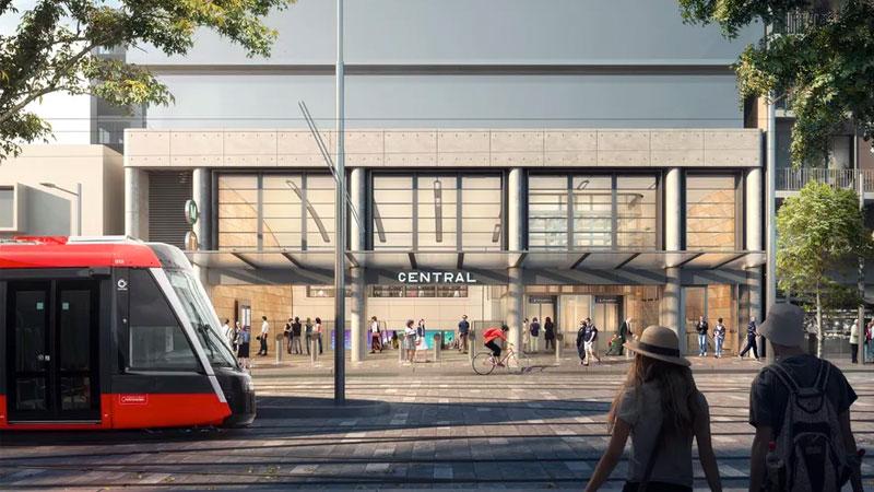 Central Station Entrance Render
