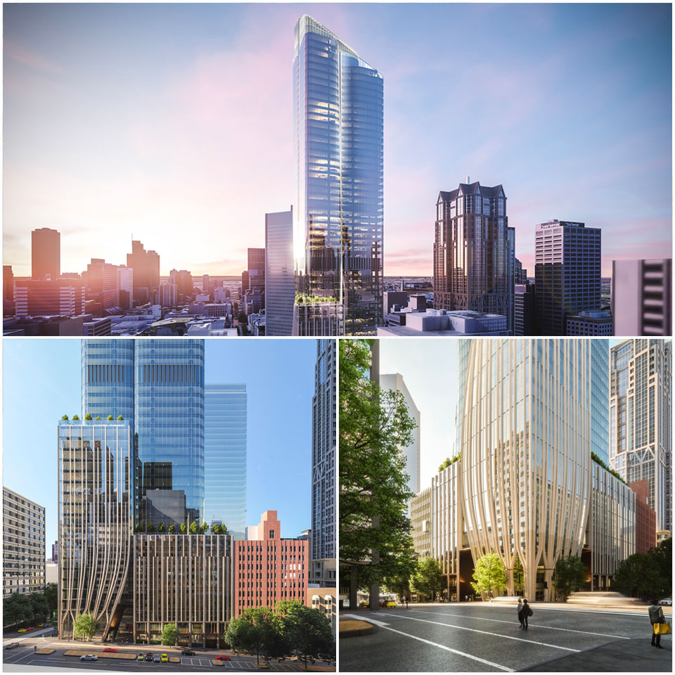 ▲ The site is located only a few blocks from the developer's eye-catching Pantscraper twin-tower project on Collins Street. Image: Bates Smart